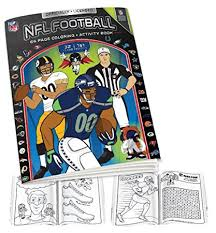 nfl coloring book black white one size