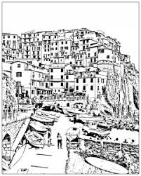 Small Picture Landscapes Coloring pages for adults JustColor