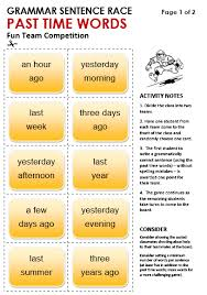 Past Time Words All Things Grammar