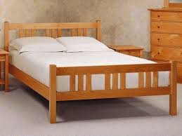 wooden xl bed frame