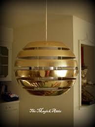 Disco Ceiling Light Fixtures Vintage 1970s Gold Ball Light Fixture Ball Lights