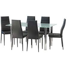 blair frosted glass dining table 6 x betty dining chair