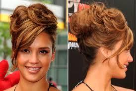 Jessica Alba Updo Hairstyles Messy Hairstyle Lady Bakuland Women Man Fashion Blog