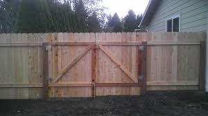 wood fence double gate. Dog Ear Fencing With A Simple \u201cZ\u201d Frame Double Gate. Alternating Panels Wood Fence Gate