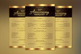 Church Program Template Church Anniversary One Sheet Program Template On Behance