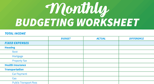 Personal Finances Spreadsheet 021 Monthly Budget Template Personal Budgeting Excel
