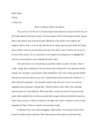 nancy s bedroom analytical essay in cold blood