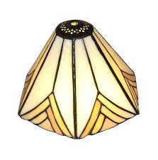 Noshy Tiffany Sh 028 Hexagon Stained Glass Lampshade 83diagonal
