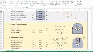 Lifting Pad Eye Design 4 Lifting Lug Analysis Simplified