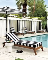 Black and white patio furniture Cheap View In Gallery Striped Loungers From Cb2 Decoist Patio Furniture And Decor Trend Bold Black And White