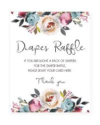 raffle sign printable boho themed baby shower diaper raffle sign pink and