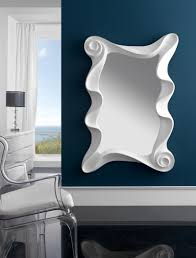large modern contemporary mirror in silver finish
