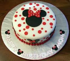 Red And Black Minnie Mouse Cake Ideas Party Birthday Cakes Cute