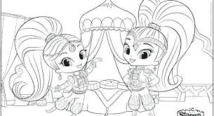 Nick Jr Shimmer And Shine Coloring Pages Nazboo Colouring Color
