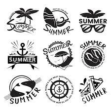 夏と休日のタイポグラフィのイラスト ベクター画像 無料ダウンロード