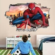 spiderman superhero wall art stickers