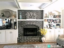 black painted brick fireplace jennifer allwood