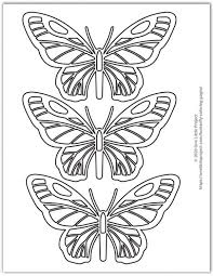 Free printable butterfly templates.you can use these free printers to make a paper butterfly, a butterfly wall, or as a simple butterfly character. Butterfly Coloring Pages Free Printable Butterflies One Little Project