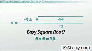 how to use the quadratic formula to solve a quadratic equation lesson transcript study com
