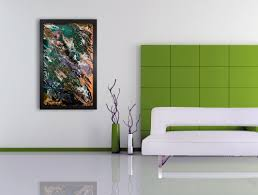 Unusual Glass Art | Abstract Painting | Handmadecraig Anthony Within Modern Wall  Art Uk (Image