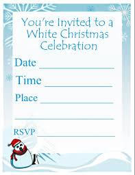 printable christmas invitations white christmas party invitation