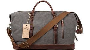 s zone leather canvas duffel bag