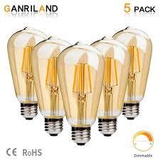 Senarai Harga Ganriland E27 Led St64 4w Golden Cover Dimmable Edison