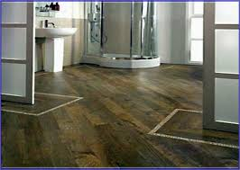 wood grain ceramic tile bathroom