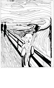 the scream coloring sheet. Plain Scream The Scream Coloring Sheet Modern Art Pages Screaming Death  Printable Colouring Page  Inside The Scream Coloring Sheet R