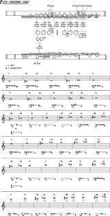 Bass Flute Finger Chart Flute Fingering Chart Ryan Brawders Music
