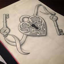 lock and key drawing. Modren And 564x564 31 Best Heart Lock Key Tattoo Design Outline Images On Pinterest And Drawing GetDrawingscom