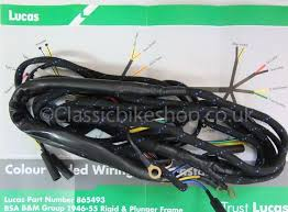 classicbikeshop wiring loom cloth bound bsa b&m group 1946 55 Trailer Wiring Harness wiring harness cloth bound bsa b31 b33 m20 1946 55 rigid plunger