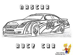 Full Force Race Car Coloring Pages Free Nascar Sports Car