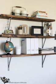 office wall shelf. Simple Wall DIY Office Shelves By The Wood Grain Cottage And Wall Shelf E
