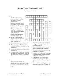 Sewing Machine Insert Crossword