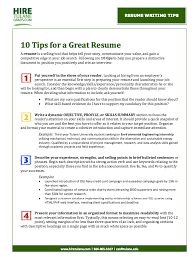 10 Tips For Creating A Resume