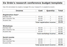 conference budget spreadsheet your free conference budget template with tips ex ordo