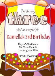 Birthday Invitation Sample Cafe322 Com