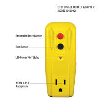 Why Does My Gfci Outlet Have A Yellow Light Tower Manufacturing 30439005 Auto Reset 15 Amp Grounded 3 Prong Gfci Single Outlet Adapter Yellow