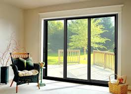 jeld wen sliding patio doors bronze anodized aluminum sliding patio doors in three panel design wen sliding glass doors