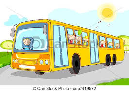 bus drawing for kids. Delighful Kids Kids In School Bus  Csp7419572 In Drawing For O
