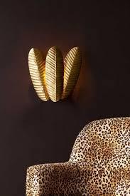 tropical leaf gold wall light rockett