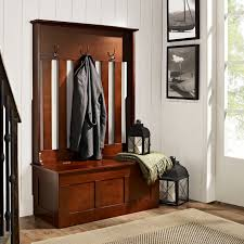 Hallway Storage Bench With Coat Rack Mudroom Storage Bench With Hooks Front Entrance Bench Hall Tree 56