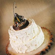 Rustic Fishing Theme Groom Cake Topper Wedding Collectibles