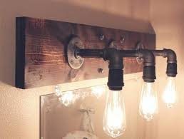 rustic bathroom lighting fixtures. Rustic Bath Light Fixtures Industrial Bathroom Vanity . Lighting