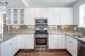 white glass tile backsplash great modish white kitchen cabinets with glass tile grey for island wallpaper
