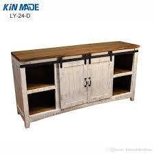 kinmade mini cabinet double barn door hardware flat track wooden sliding door system kit mini cabinet barn door hardware wooden sliding door system kit