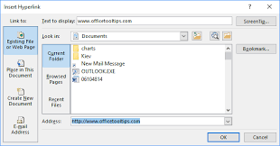 How To Insert Links Hyperlinks Or Mail Links Into The