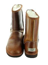 short classic leather chestnut ugg womens boots