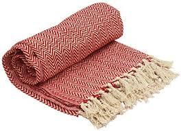 Red Chevron Throw Blanket